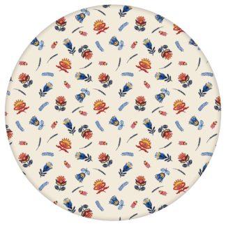 Exotische Streublümchen Tapete mit kleinen Blüten, bunte Vlies-Tapete Blumen, folklore Wanddeko für Wohnzimmeraus dem GMM-BERLIN.com Sortiment: gelbe Tapete zur Raumgestaltung: #00132 #blumen #Blumentapete #bunt #Exotik #Indien #Streublümchen #Wohnzimmer für individuelles Interiordesign