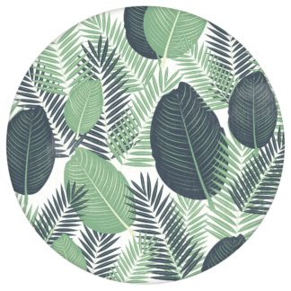 Üppige Dschungel Tapete mit großen Blättern, grün weiße Vlies Tapete, exotische moderne Wanddeko für Küche aus den Tapeten Neuheiten Blumentapeten und Borten als Naturaltouch Luxus Vliestapete oder Basic Vliestapete