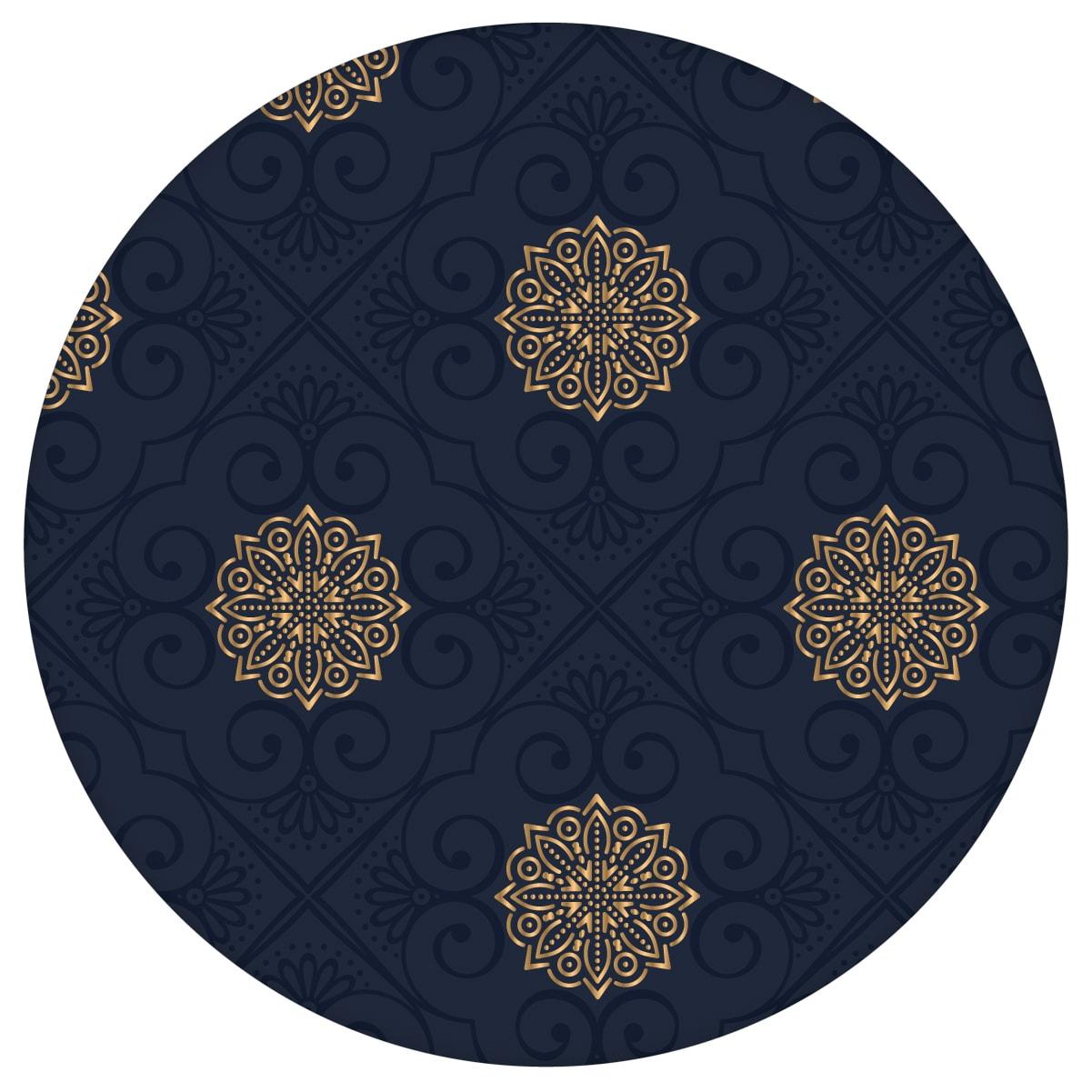 """Exklusive oriental Tapete """"Mandarin"""", dunkel blaue Vlies-Tapete, elegante Ornamenttapete für Schlafzimmer aus den Tapeten Neuheiten Exklusive Tapete für schönes Wohnen als Naturaltouch Luxus Vliestapete oder Basic Vliestapete"""