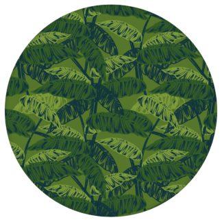 """Moderne Tapete """"Wild Bananas"""" mit Blättern, grüne Vlies Tapete üppige Blumentapete für Flur, Büro"""