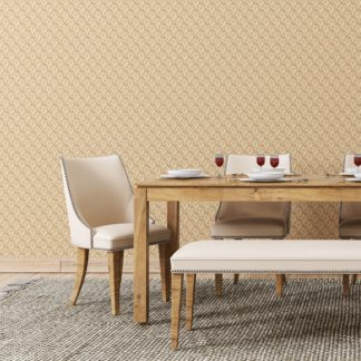 """Tapete Wohnzimmer creme: Feine Tapete """"Sensaina"""" mit Blüten Dolden, beige Vlies-Tapete Blumen, delikate, leichte Blumentapete für Wohnzimmer"""