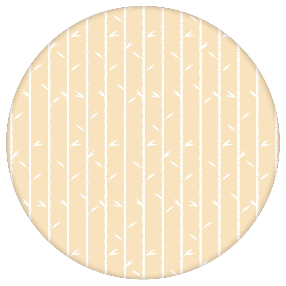 """Natur Tapete """"Bamboo Garden"""" mit grafischem Bambus, vanille gelbe Vlies-Tapete für Schlafzimmeraus dem GMM-BERLIN.com Sortiment: gelbe Tapete zur Raumgestaltung: #00163 #Bambus #blumen #Blumentapete #gelbe Tapeten #grafisch #Natur #schlafzimmer #streifen #vanille für individuelles Interiordesign"""