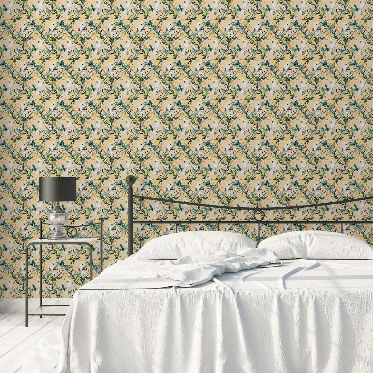 gelb: Multicolor Streifentapete passend zu Ikea Trendfarben - Exklusive Tapeten für schönes Wohnen aus der Serie Streifentapeten für schönes Wohnen der Gräflich Münster'schen Manufaktur