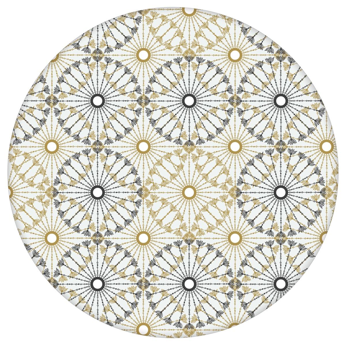 """Moderne Tapete """"Charming Circles"""" mit Pfeil Kreisen, beige schwarze Vlies-Tapete Ornamenttapete für Schlafzimmer aus den Tapeten Neuheiten Exklusive Tapete für schönes Wohnen als Naturaltouch Luxus Vliestapete oder Basic Vliestapete"""
