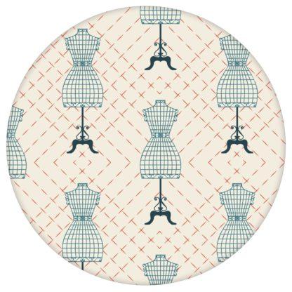 """Modische Tapete """"Fashionista"""" mit Kleiderpuppen Schnittmuster, rote Ornamenttapete für Jugendzimmeraus dem GMM-BERLIN.com Sortiment: rote Tapete zur Raumgestaltung: #00169 #Fashion #Jugendzimmer #Kleiderpuppe #Mode #motiv #rot #rote Tapeten #Schnittmuster #Wandgestaltung für individuelles Interiordesign"""