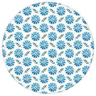 """Klassische Tapete """"Blümchen Glück"""" mit Aquarell Look, blaue Vlies Tapete Blumentapete für Flur, Büro aus den Tapeten Neuheiten Blumentapeten und Borten als Naturaltouch Luxus Vliestapete oder Basic Vliestapete"""