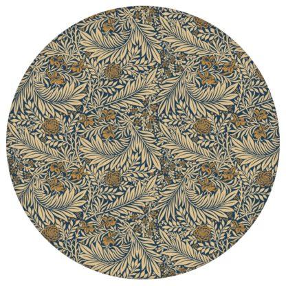 """Edle Jugendstil Tapete """"Délice florale"""" nach William Morris, dunkelblau beige, kleiner Rapport Vlies Ornamenttapete für Flur, Büroaus dem GMM-BERLIN.com Sortiment: blaue Tapete zur Raumgestaltung: #00177 #Arbeitszimmer #beige #beige – cremefarbene Tapeten #Blaue Tapeten #blumen #Blumentapete #dunkelblau #Jugendstil #Natur #ornamente #Ranken #Retro #vintage #WilliamMorris für individuelles Interiordesign"""