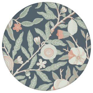 """Jugendstil Tapete """"Granatapfel Baum"""" nach William Morris, grau blaue Vlies Tapete Blumen Natur, elegante Wanddeko für Küche aus den Tapeten Neuheiten Blumentapeten und Borten als Naturaltouch Luxus Vliestapete oder Basic Vliestapete"""
