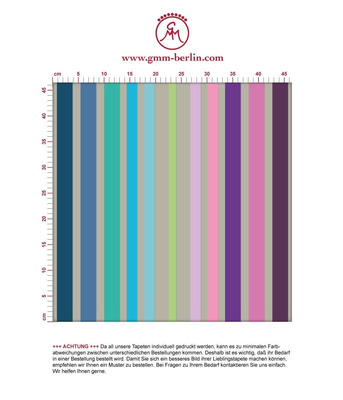 Design Classic Tapete dekorativer Streifen in - Exklusive Tapeten für schönes Wohnen aus der Serie Streifentapeten für schönes Wohnen der Gräflich Münster'schen Manufaktur