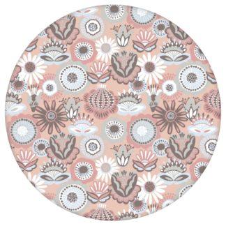 """Altrosa florale Tapete """"Bauerngarten"""" Blüten im Folklore Stil, Vlies Tapete für Flur, Büro aus den Tapeten Neuheiten Blumentapeten und Borten als Naturaltouch Luxus Vliestapete oder Basic Vliestapete"""