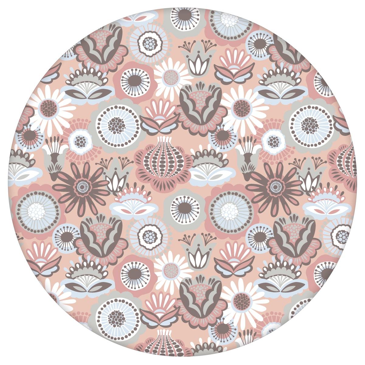 Altrosa florale Tapete