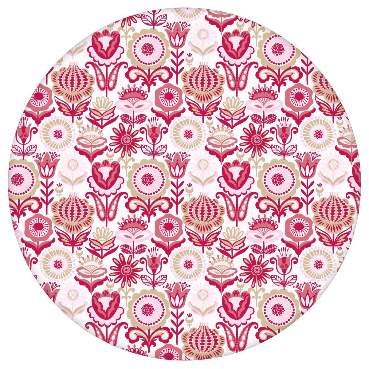 """Nostalgie Blüten Tapet """"Fiore della nostalgia"""", rosa Vlies-Tapete Blumen, folklore Wanddeko für Schlafzimmer aus den Tapeten Neuheiten Blumentapeten und Borten als Naturaltouch Luxus Vliestapete oder Basic Vliestapete"""