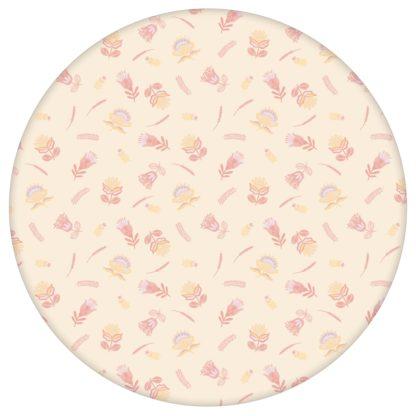 Streublümchen Tapete mit kleinen Blüten, vanille gelbe Vlies Tapete folklore Blumentapete für Kücheaus dem GMM-BERLIN.com Sortiment: gelbe Tapete zur Raumgestaltung: #00132 #blumen #Blumentapete #Exotik #gelbe Tapeten #Indien #kueche #Streublümchen #vanille für individuelles Interiordesign