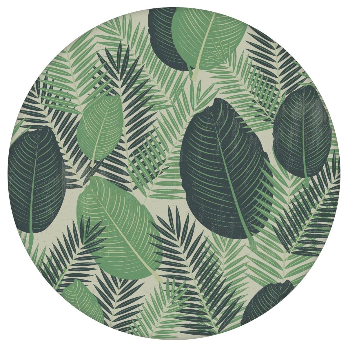 Grüne Dschungel Tapete mit großen Blättern, exotische Vlies-Tapete Natur, moderner Wohnakzent für Schlafzimmer aus den Tapeten Neuheiten Blumentapeten und Borten als Naturaltouch Luxus Vliestapete oder Basic Vliestapete