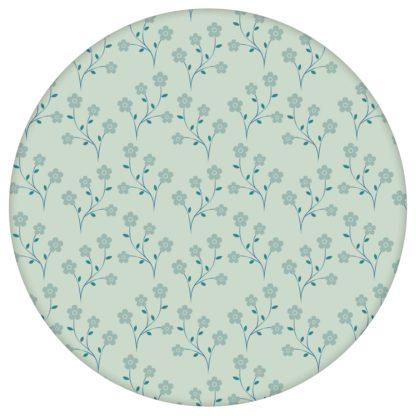 """Delikate Tapete """"Kohana"""" mit kleinen Blüten, mint grüne Vlies-Tapete Blumen, zarte, leichte Blumentapete für Schlafzimmeraus dem GMM-BERLIN.com Sortiment: grüne Tapete zur Raumgestaltung: #00134 #blueten #blumen #Blumentapete #Grüne Tapeten #Japan #mint #Nostalgie #schlafzimmer für individuelles Interiordesign"""