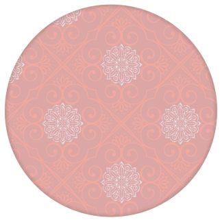 "Oriental Tapete ""Mandarin"", rosa Vlies Tapete exklusive Ornamenttapete für Flur, Büro"