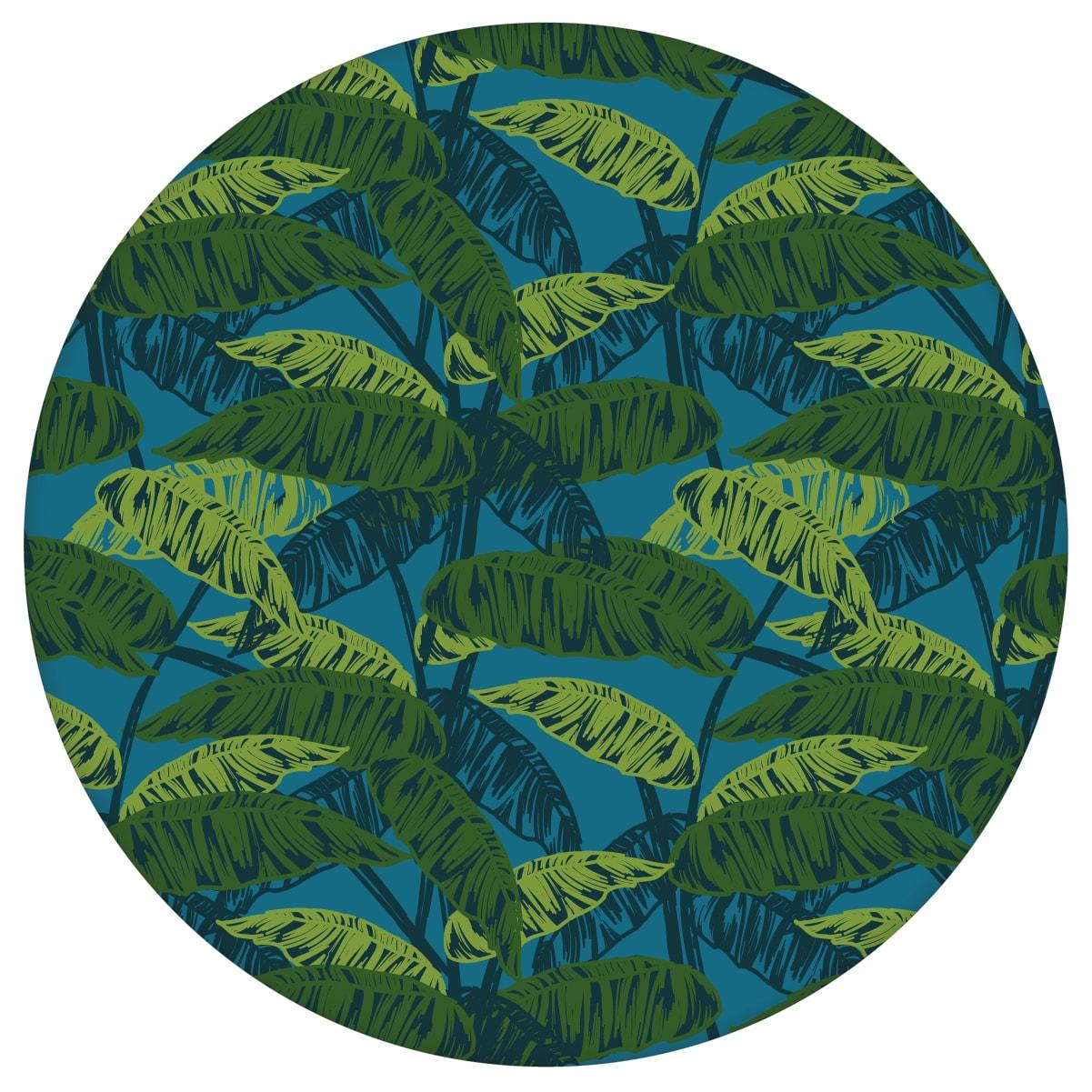 """Petrol blaue Tapete """"Wild Bananas"""" mit Blättern, Vlies-Tapete üppige Blumentapete für Schlafzimmer"""