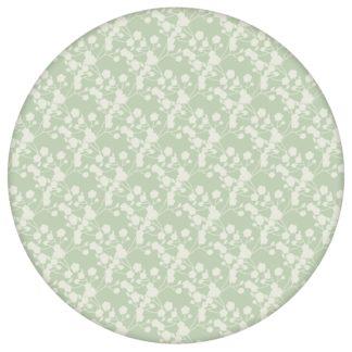 """Blüten Dolden Tapete """"Sensaina"""", grüne Vlies Tapete Blumen, delikate, leichte Blumentapete für Flur, Büro"""