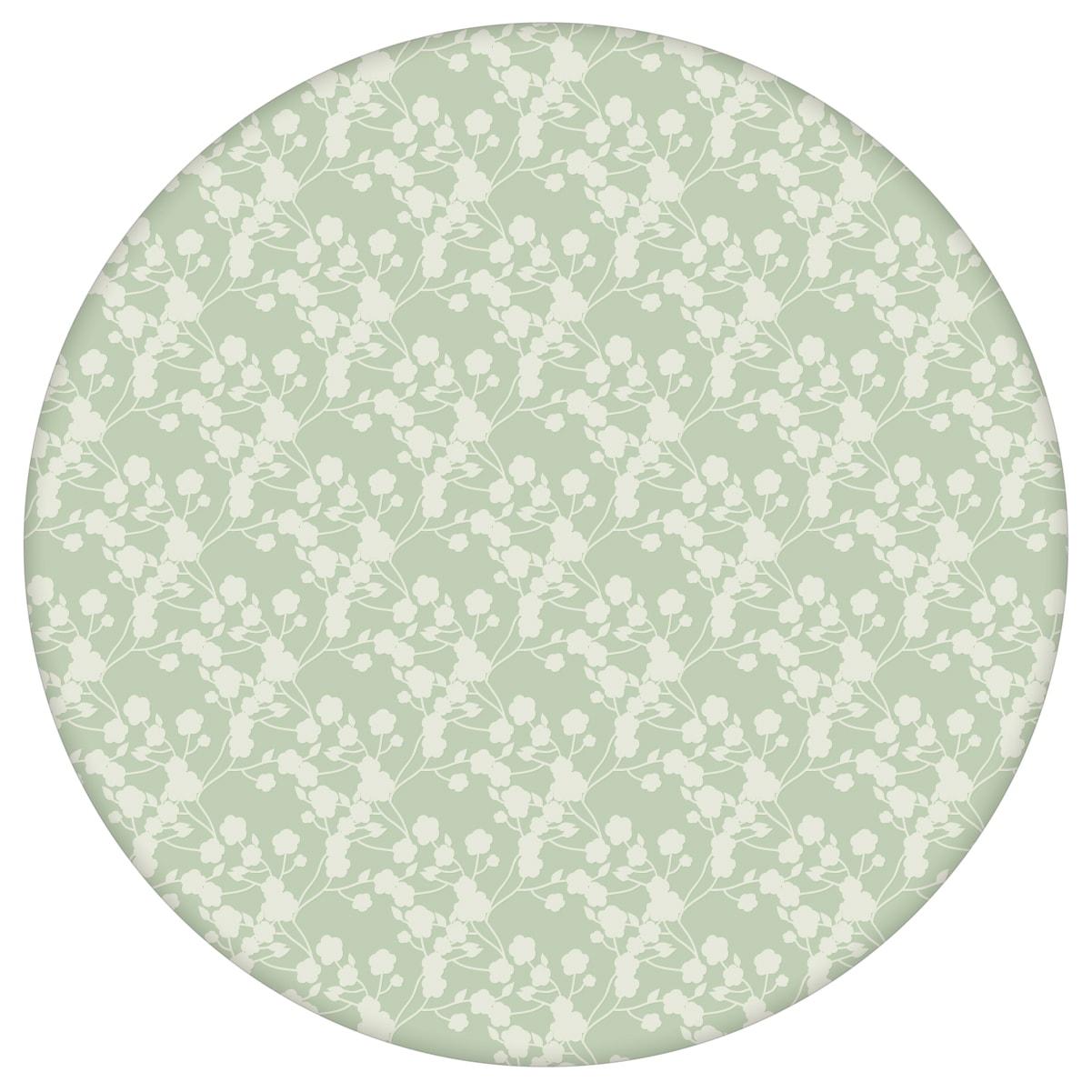 """Blüten Dolden Tapete """"Sensaina"""", grüne Vlies Tapete Blumen, delikate, leichte Blumentapete für Flur, Büro 3"""