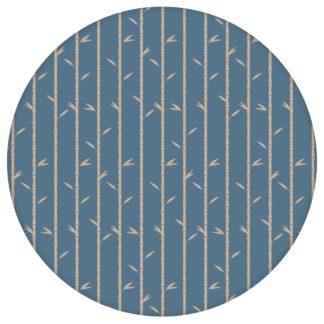"""Bambus Tapete """"Bamboo Garden"""", blau beige, grafische Blumentapete für Flur, Büro"""