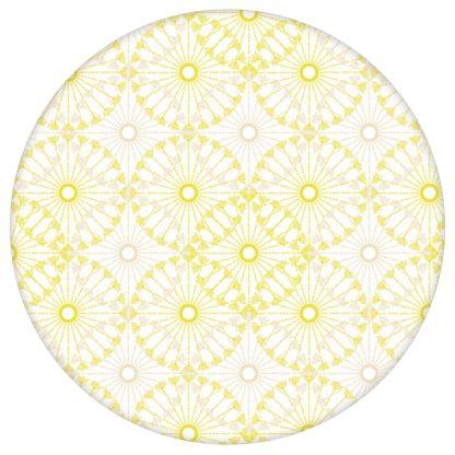 """Ornamenttapete """"Charming Circles"""" mit Pfeil Kreisen, gelb beige Vlies Tapete Ornamente Wanddeko für Küche aus den Tapeten Neuheiten Exklusive Tapete für schönes Wohnen als Naturaltouch Luxus Vliestapete oder Basic Vliestapete"""