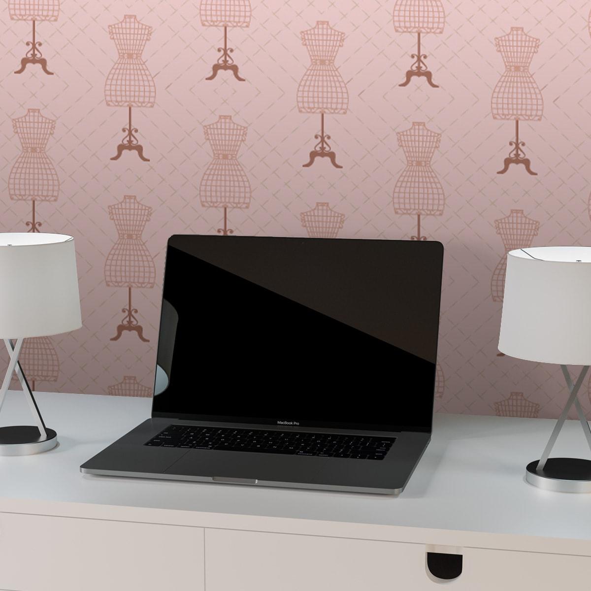 Schlafzimmer tapezieren in pink: Mode Tapete