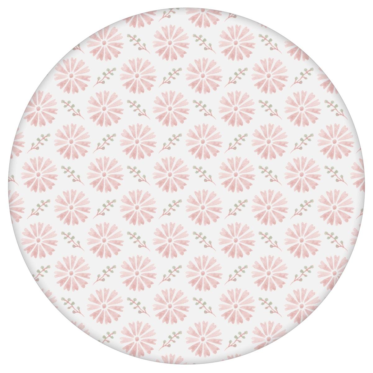 """Klassisch rosa Tapete """"Blümchen Glück"""" mit Aquarell Look, Vlies-Tapete für Wohnzimmer aus den Tapeten Neuheiten Blumentapeten und Borten als Naturaltouch Luxus Vliestapete oder Basic Vliestapete"""