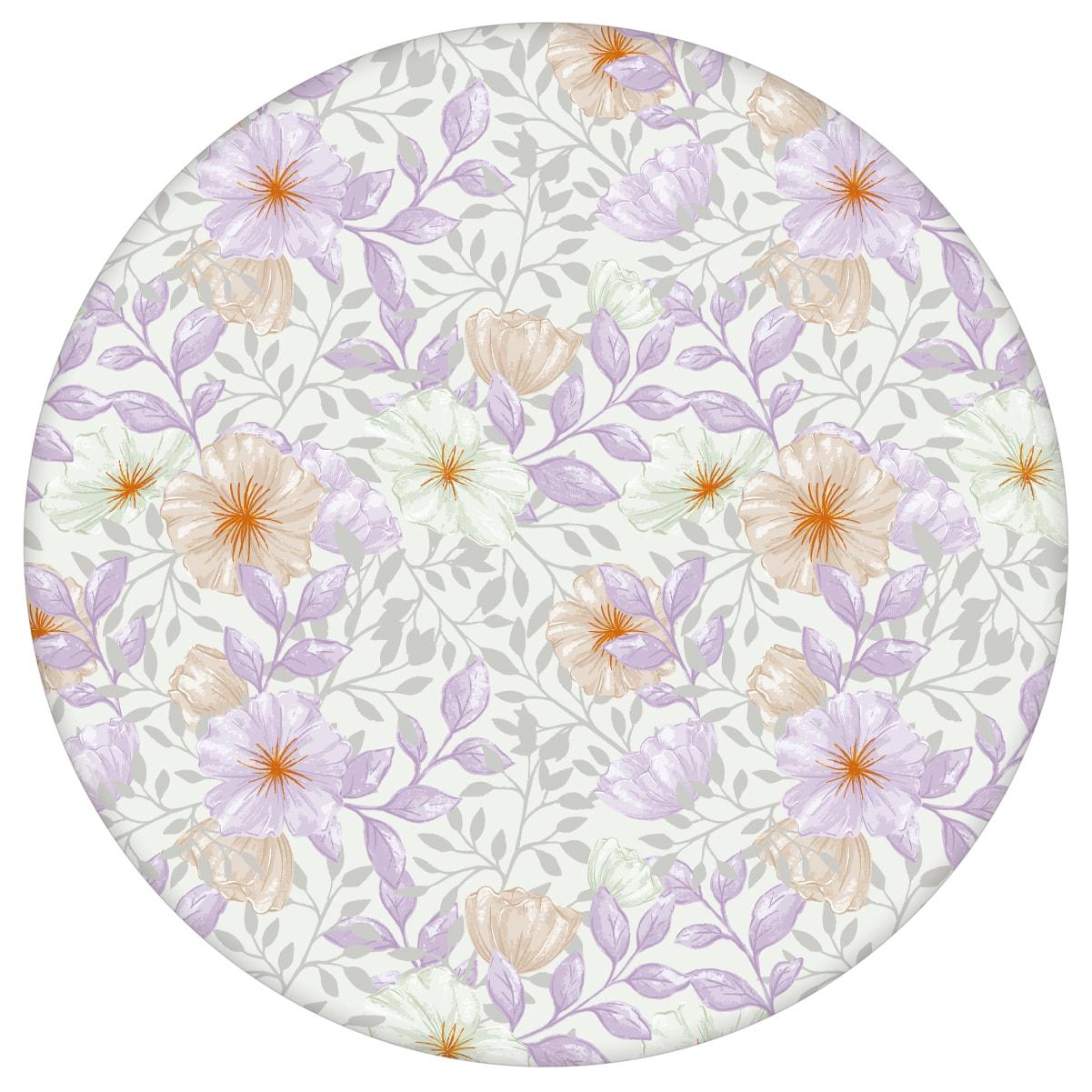 """Üppige Tapete """"Hibiskus Garten"""" mit zarten Blüten, lila Vlies-Tapete für Schlafzimmer aus den Tapeten Neuheiten Blumentapeten und Borten als Naturaltouch Luxus Vliestapete oder Basic Vliestapete"""
