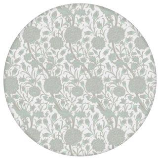 """Helle Jugendstil Tapete """"Tulpen und Narzissen"""" nach William Morris, weisse Vlies Tapete Blumen Natur, elegante Wanddeko für Küche aus den Tapeten Neuheiten Blumentapeten und Borten als Naturaltouch Luxus Vliestapete oder Basic Vliestapete"""