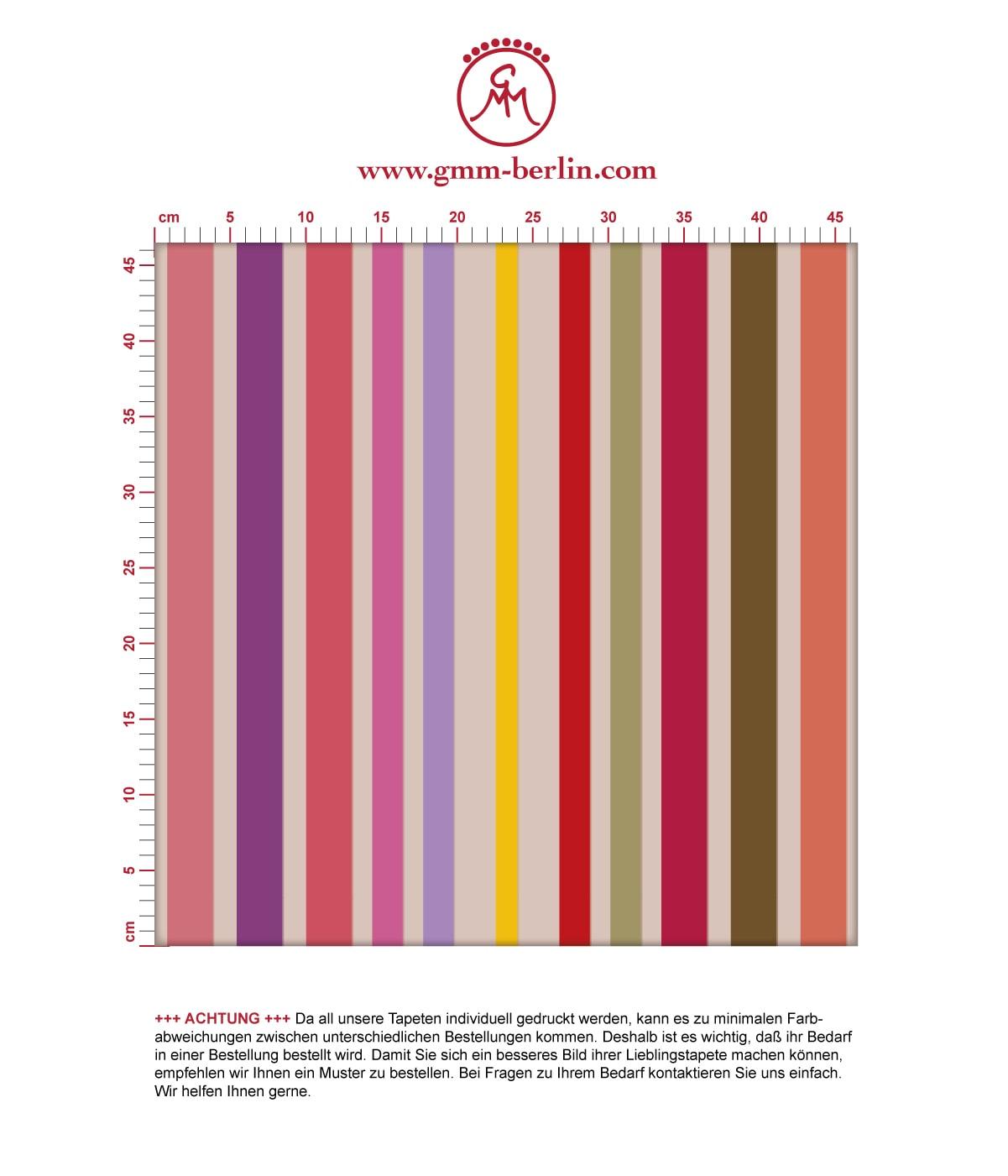 Aus dem GMM-BERLIN.com Sortiment: Schöne Tapeten in der Farbe: rot. Schöne Wandgestaltung: dekorativer Sreifen Design Classic Tapete in #design #modern #streifen #streifentapete #trend für individuelles Interiordesign