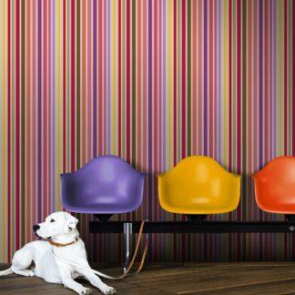 """""""dekorativer Streifen"""" Design Classic Tapete in edlen Farben, rote Vlies Tapete Streifen, Wohnakzent für Flur, Büro"""