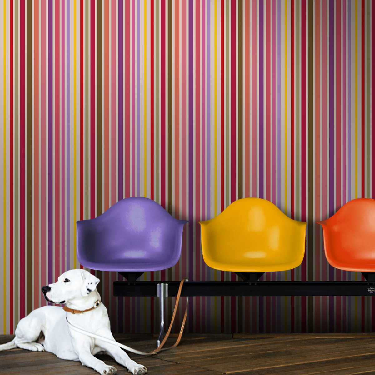 Sommer, Sonne und Kakadus - die aus der Tapeten Design Familie: -0040 als Naturaltouch Luxus Vliestapete oder Basic Vliestapete