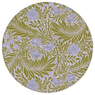 """Schöne Jugendstil Tapete """"Délice florale"""" nach William Morris, lila olive, großer Rapport Ornamenttapete für Flur, Büro"""