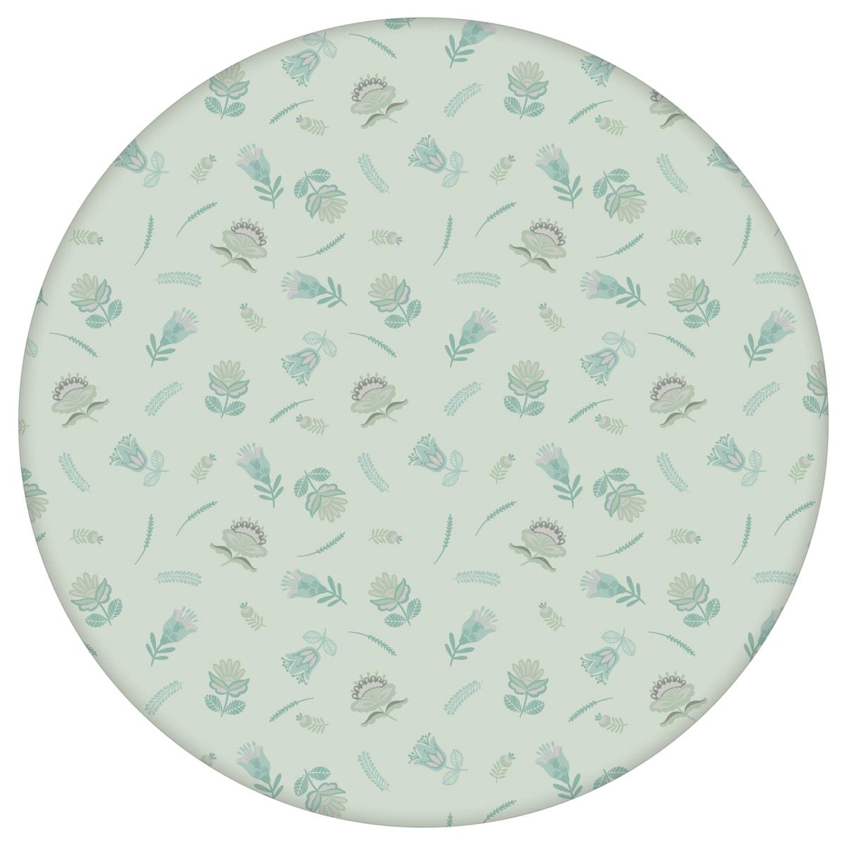 Folklore Streublümchen Tapete mit kleinen Blüten, mint grüne Vlies-Tapete Blumen, exotische Wanddeko für Schlafzimmeraus dem GMM-BERLIN.com Sortiment: grüne Tapete zur Raumgestaltung: #00132 #blumen #Blumentapete #Exotik #Grüne Tapete #Indien #mint #schlafzimmer #Streublümchen für individuelles Interiordesign