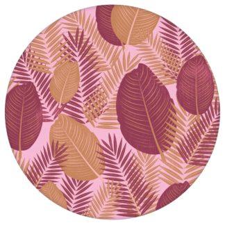 Rote Dschungel Tapete mit großen Blättern, rote Vlies Tapete, üppige, moderne Wanddeko für Flur, Büro aus den Tapeten Neuheiten Blumentapeten und Borten als Naturaltouch Luxus Vliestapete oder Basic Vliestapete