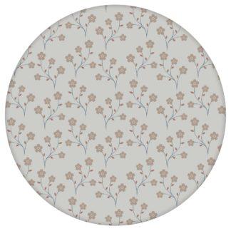"""Leichte Tapete """"Kohana"""" mit kleinen Blüten, graue Vlies Tapete Blumen, delikate Blumentapete für Flur, Büroaus dem GMM-BERLIN.com Sortiment: grau Tapete zur Raumgestaltung: #00134 #Arbeitszimmer #blueten #blumen #Blumentapete #grau #Graue Tapeten #Japan #Nostalgie für individuelles Interiordesign"""