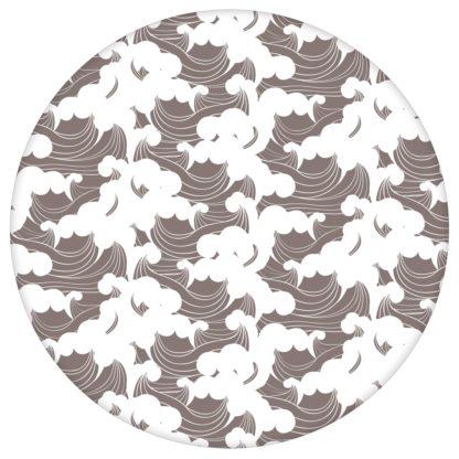 """Asiatische Wellen Tapete """"Meerschaum"""", braune Vlies Tapete grafische Wanddeko für Flur, Büro aus den Tapeten Neuheiten Exklusive Tapete für schönes Wohnen als Naturaltouch Luxus Vliestapete oder Basic Vliestapete"""