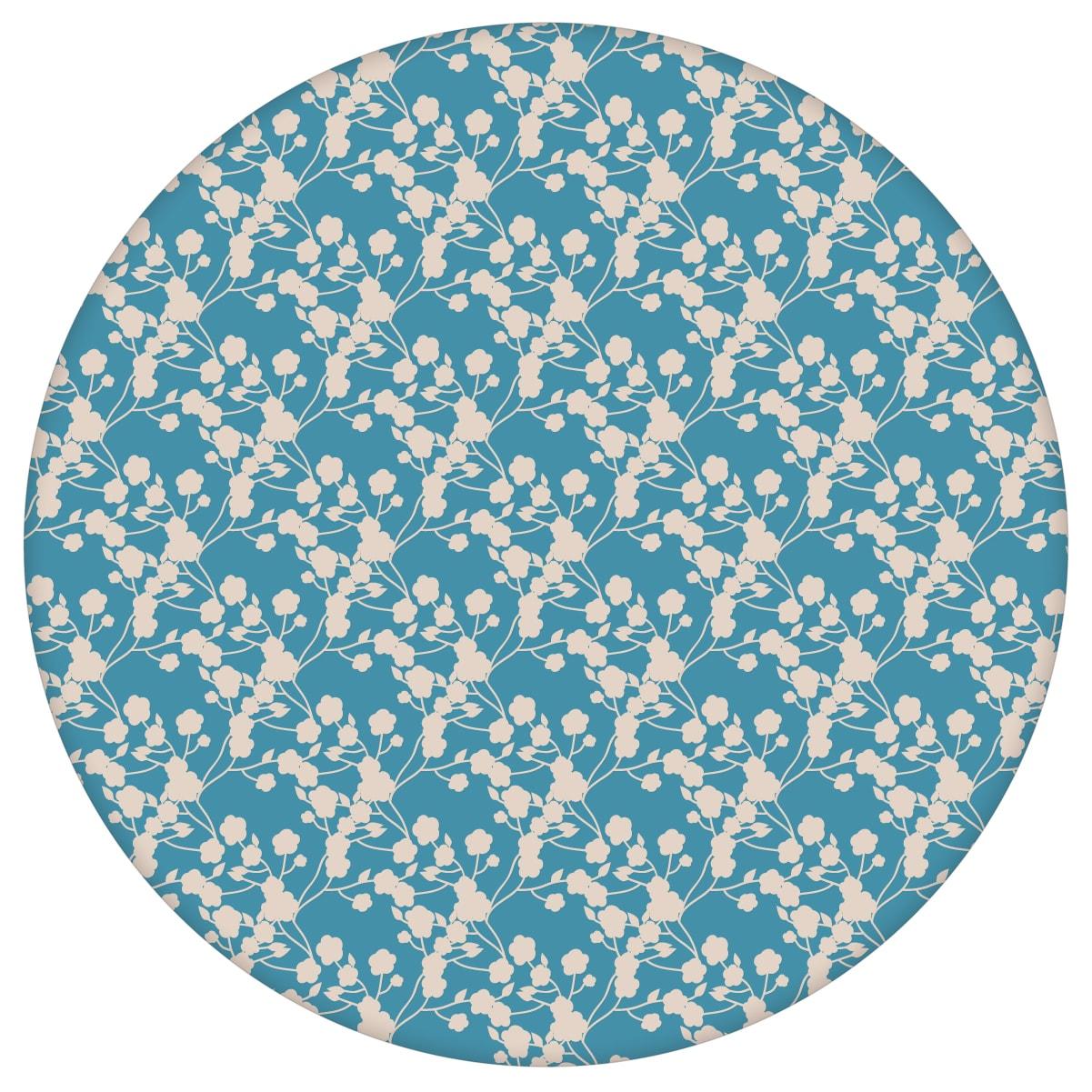 """Blaue Tapete """"Sensaina"""" mit Blüten Dolden, blaue Vlies-Tapete Blumen, delikate, leichte Blumentapete für Schlafzimmeraus dem GMM-BERLIN.com Sortiment: blaue Tapete zur Raumgestaltung: #00140 #blau #Blaue Tapeten #blueten #blumen #Blumentapete #Japan #schlafzimmer #zart für individuelles Interiordesign"""