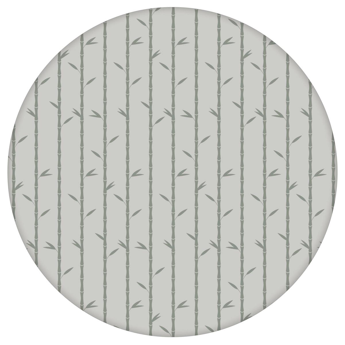 """Grau olive Tapete """"Bamboo Garden"""" mit grafischem Bambus, Vlies-Tapete für Wohnzimmer"""