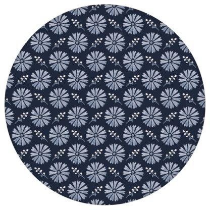 """Schöne Tapete """"Blümchen Glück"""" mit Aquarell Look, dunkel blaue Vlies Tapete Wohnakzent für Flur, Büroaus dem GMM-BERLIN.com Sortiment: blaue Tapete zur Raumgestaltung: #00170 #Aquarell #Blaue Tapeten #blueten #blumen #Blumentapete #Büro #dunkelblau #flur für individuelles Interiordesign"""