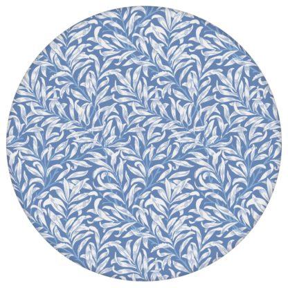 """Retro Jugendstil Tapete """"Wilde Weiden"""" nach William Morris, blaue Vlies-Tapete Blumentapete für Wohnzimmer aus den Tapeten Neuheiten Blumentapeten und Borten als Naturaltouch Luxus Vliestapete oder Basic Vliestapete"""