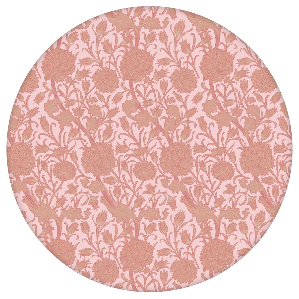 """Rosa Jugendstil Tapete """"Tulpen und Narzissen"""" nach William Morris, Vlies-Tapete Blumentapete für Wohnzimmeraus dem GMM-BERLIN.com Sortiment: rosa Tapete zur Raumgestaltung: #00174 #blumen #Blumentapete #Jugendstil #Narzisse #Retro #rosa #rosa Tapeten #Tulpe #vintage #WilliamMorris #Wohnzimmer für individuelles Interiordesign"""