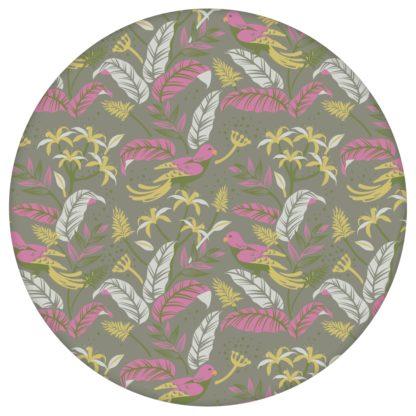 """""""Wild Birds"""" Tropische Tapete mit Dschungel Vögeln, olive Vlies-Tapete Blumen Tiere, schöne Wanddeko für Schlafzimmer aus den Tapeten Neuheiten Exklusive Tapete für schönes Wohnen als Naturaltouch Luxus Vliestapete oder Basic Vliestapete"""