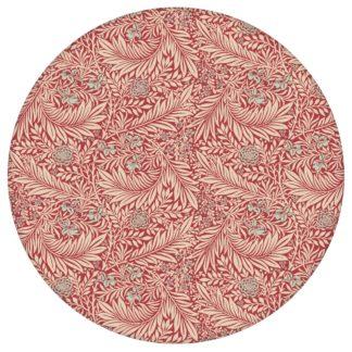 """Vintage Jugendstil Tapete """"Délice florale"""" nach William Morris, rote Vliestapete, kleiner Rapport Ornamenttapete für Küche aus den Tapeten Neuheiten Blumentapeten und Borten als Naturaltouch Luxus Vliestapete oder Basic Vliestapete"""