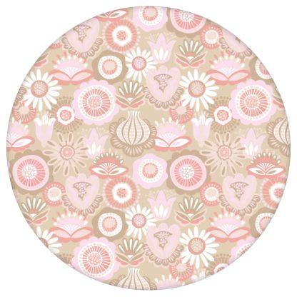 """Folklore Tapete """"Bauerngarten"""" Blüten, rosa Vlies Tapete Blumentapete für Küche aus den Tapeten Neuheiten Blumentapeten und Borten als Naturaltouch Luxus Vliestapete oder Basic Vliestapete"""