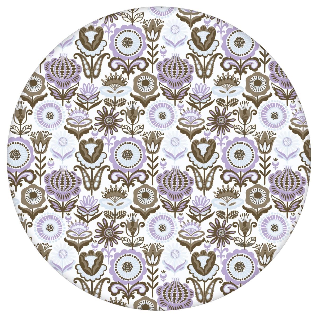 """Lila Nostalgie Blüten Tapet """"Fiore della nostalgia"""", flieder Vliestapete für Wohnzimmeraus dem GMM-BERLIN.com Sortiment: lila Tapete zur Raumgestaltung: #00131 #blueten #blumen #Blumentapete #flieder #Folklore #Nostalgie #Violette Tapeten #Wohnzimmer für individuelles Interiordesign"""