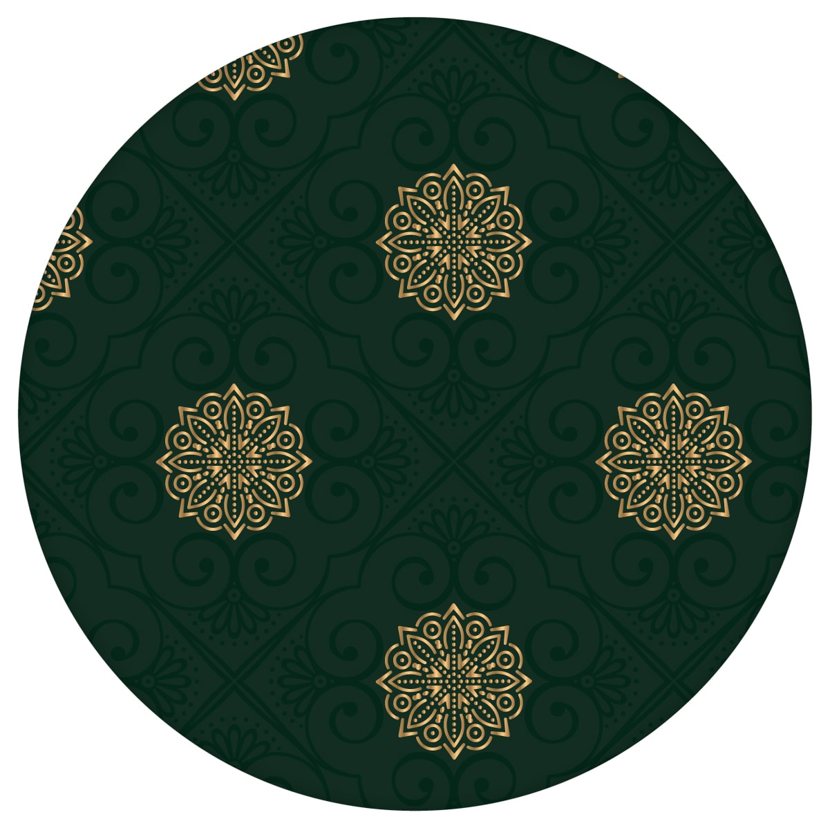 Dunkel grüne oriental Tapete