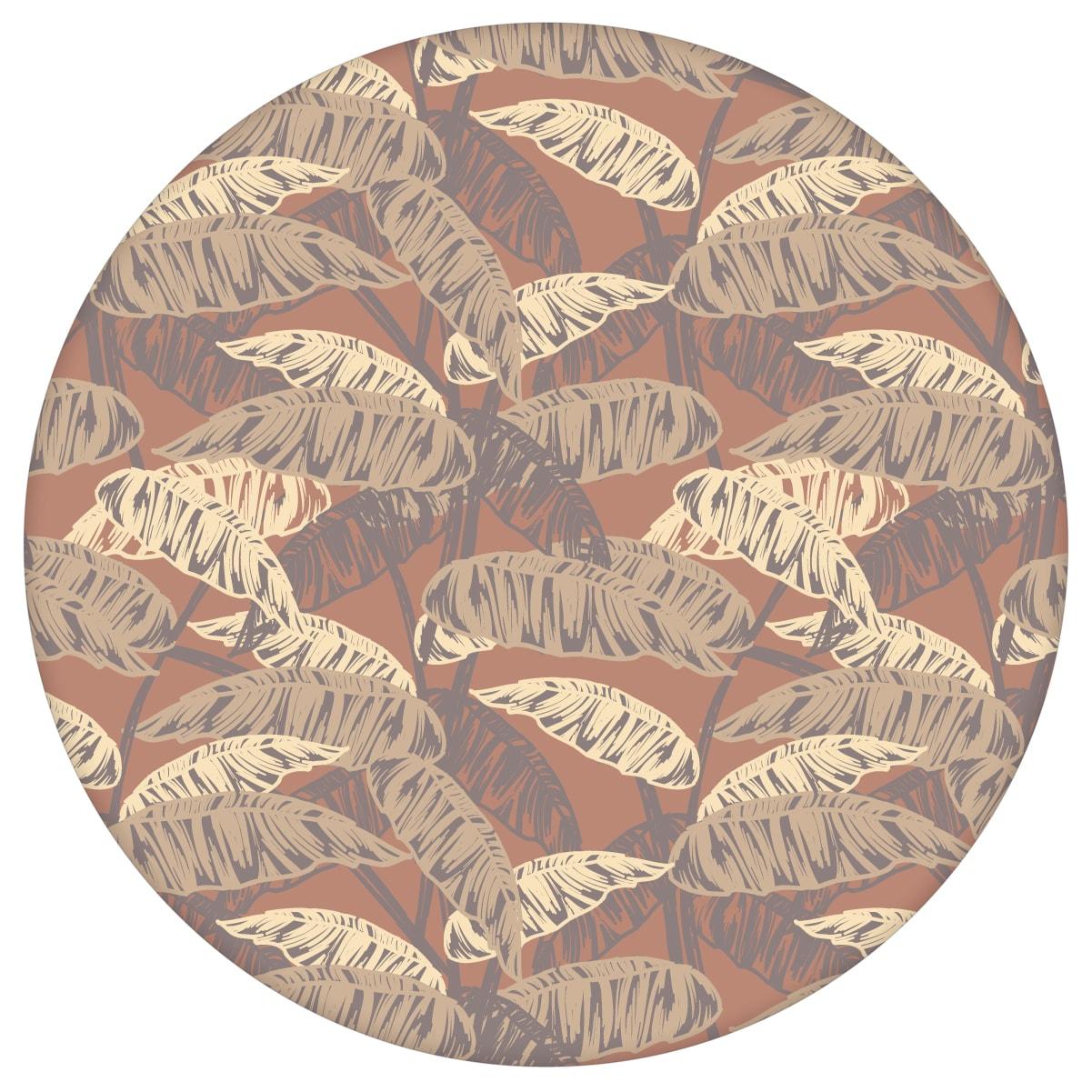 """Üppige Tapete """"Wild Bananas"""" mit Blättern, braune Vlies Tapete moderne Wanddeko für Wohnzimmer aus den Tapeten Neuheiten Blumentapeten und Borten als Naturaltouch Luxus Vliestapete oder Basic Vliestapete"""