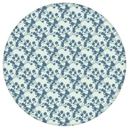 """Leichte Tapete """"Sensaina"""" mit Blüten Dolden, mint blaue Vlies Tapete Blumen, delikate Blumentapete für Kücheaus dem GMM-BERLIN.com Sortiment: grüne Tapete zur Raumgestaltung: #00140 #blau #Blaue Tapeten #blueten #blumen #Blumentapete #Grüne Tapete #Japan #kinderzimmer #mint #zart für individuelles Interiordesign"""