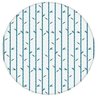 """Blaue Natur Tapete """"Bamboo Garden"""" mit grafischem Bambus, Vlies Tapete Blumenfür Küche aus den Tapeten Neuheiten Blumentapeten und Borten als Naturaltouch Luxus Vliestapete oder Basic Vliestapete"""